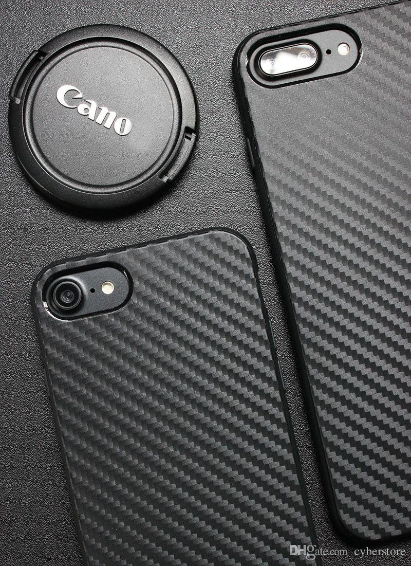 TPU Fibre De Carbone Téléphone Cas Couverture Souple En Silicone Pour iPhone XS MAX XS XR X 8 7 6 Plus Plus 6S 5 SE
