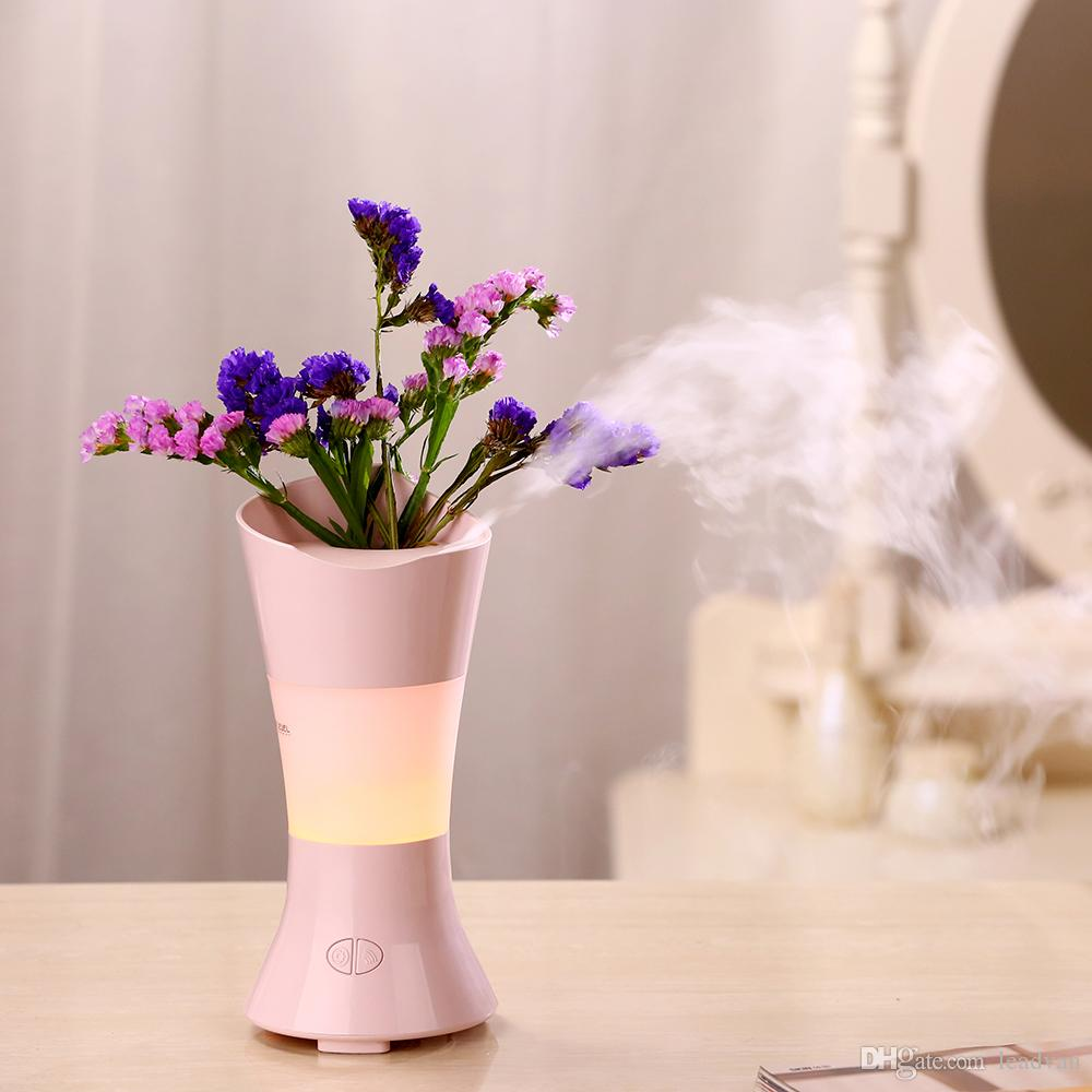 100ml Flower Vase Aroma Diffuser Ultrasonic Air Humidifier With