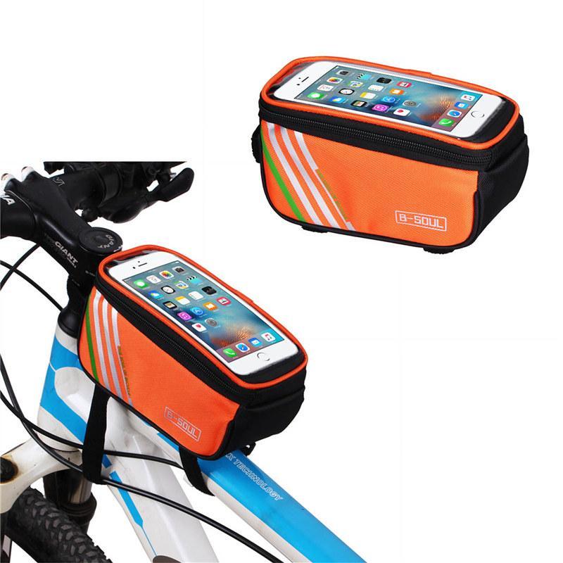 Сумки для велосипеда Велосипедная рама велосипеда 5.7 дюймов Сенсорный экран для телефона Держатель рамы Сумка для хранения трубки MTB Дорожный велосипед Чехол 4 цвета 2521002