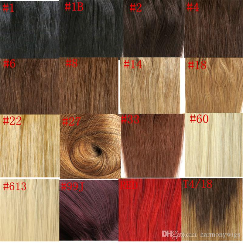 80g 120g 160g 220g 260g 280g 320g Clip in Hair Extensions #60/Platinum Blonde Brazilian Indian human Hair double Drown more colors