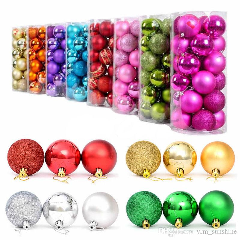 Set Christmas Tree Xmas Balls Decorations Baubles Wedding Party
