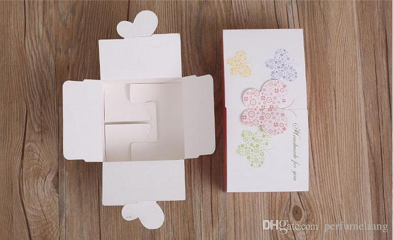 11.4*11.4*5cm Colorful Butterfly Decoration Cake Box Bakery Package Cookie Cupcake Package Boxes ZA4857