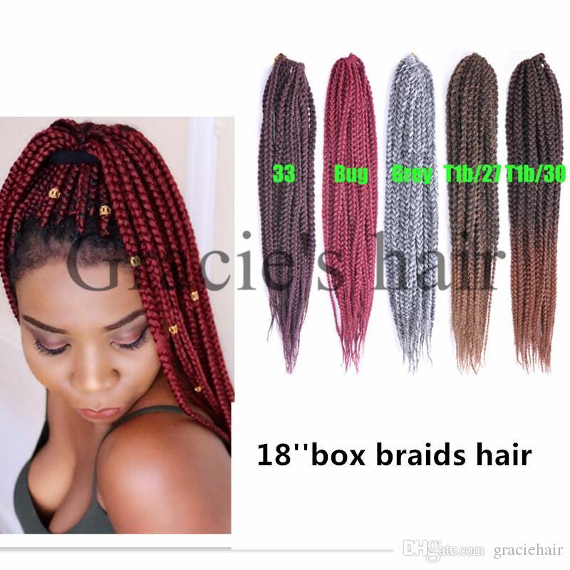 2019 Freetress Synthetic Hair Crochet Braids Medium Box Braids