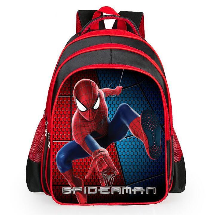 New Cartoon Kids School Bag Spider Man Backpack Kindergarten Book Bag  Spider Man Bag Casual Children School Bags Free Ship Rucksack Bags Backpacks  For Boys ...