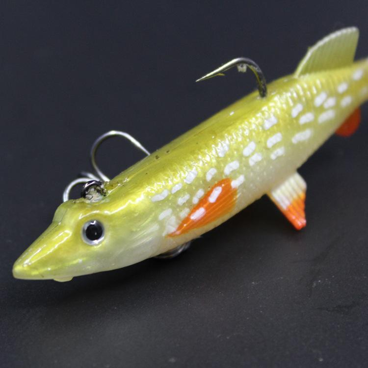 New simulation Yellow and white spots Plastic VIB bait 9.5cm/14g 3D Eyes Fly Fishing Minnow T tail Fishing lure