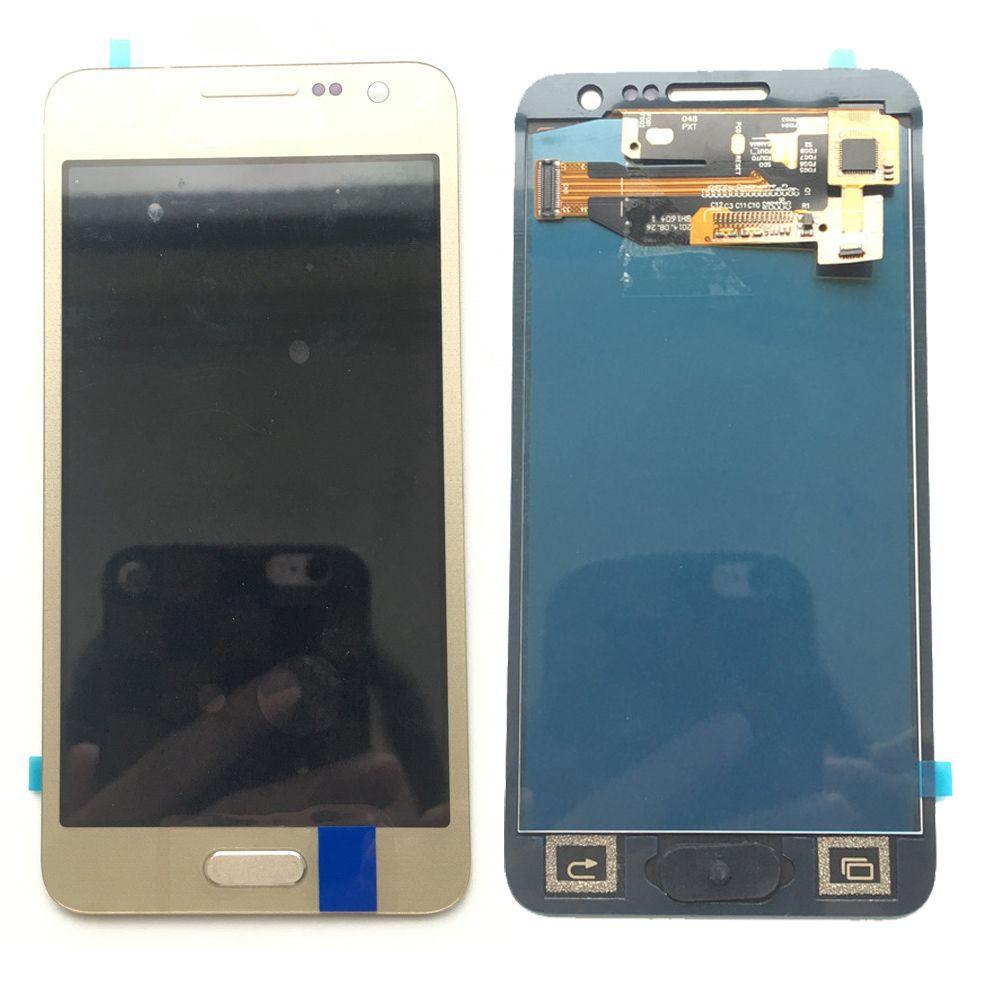 Novo display lcd touch screen substituição digitador para samsung galaxy a300 a300h a300h a300f não ajustado ouro / branco / preto dhl logística