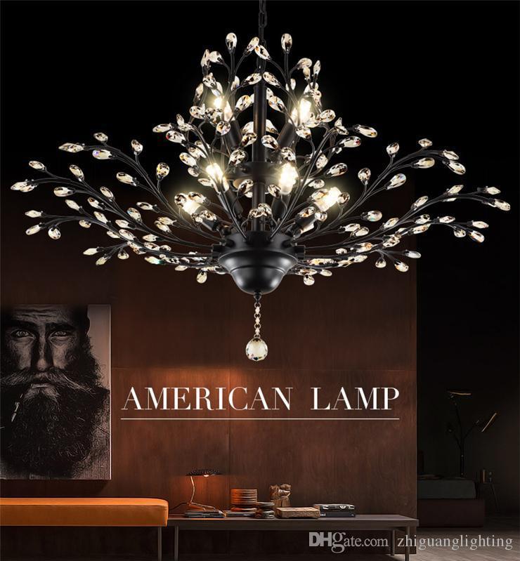 LED Kolye Işıkları Kristal Avizeler Aydınlatma Kolye Lamba Tavan Işık Avize Aydınlatma Armatürü Oturma Odası Otel Hall Alışveriş Merkezi için