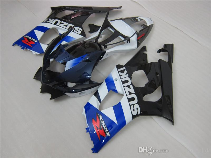 NIEUWE HOT VOOR SUZUKI 2003 2004 GSXR1000 GSXR 1000 03 04 K3 Blue White Fairing 568A