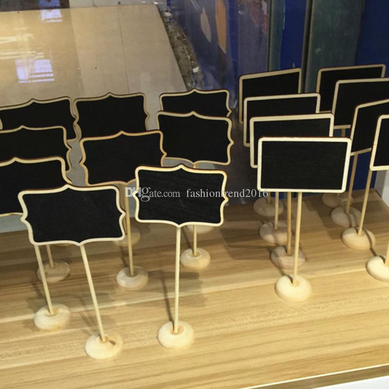 Mini lavagna in legno Lavagna in legno su Stick Party Seduta Portaposizioni Numero tabella Decorazione regalo di nozze