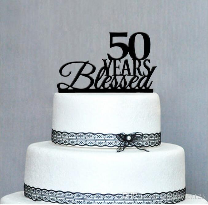 Happy 50th Birthday Cake Topper50th Anniversary