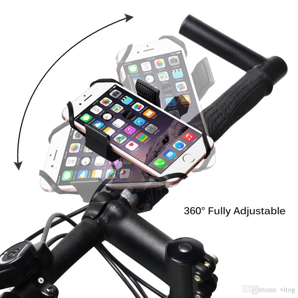 Evrensel Bisiklet Bisiklet Motosiklet Gidon Montaj Tutucu Telefon Tutucu Silikon Destek Bandı Ile Iphone 6 7 artı Samsung s7 s8 kenar