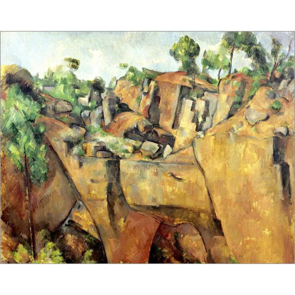 Quadri moderni Paesaggi Steinbruch bei Bibemus. --Paul Cezanne Riproduzione  su tela dipinto a mano ad olio