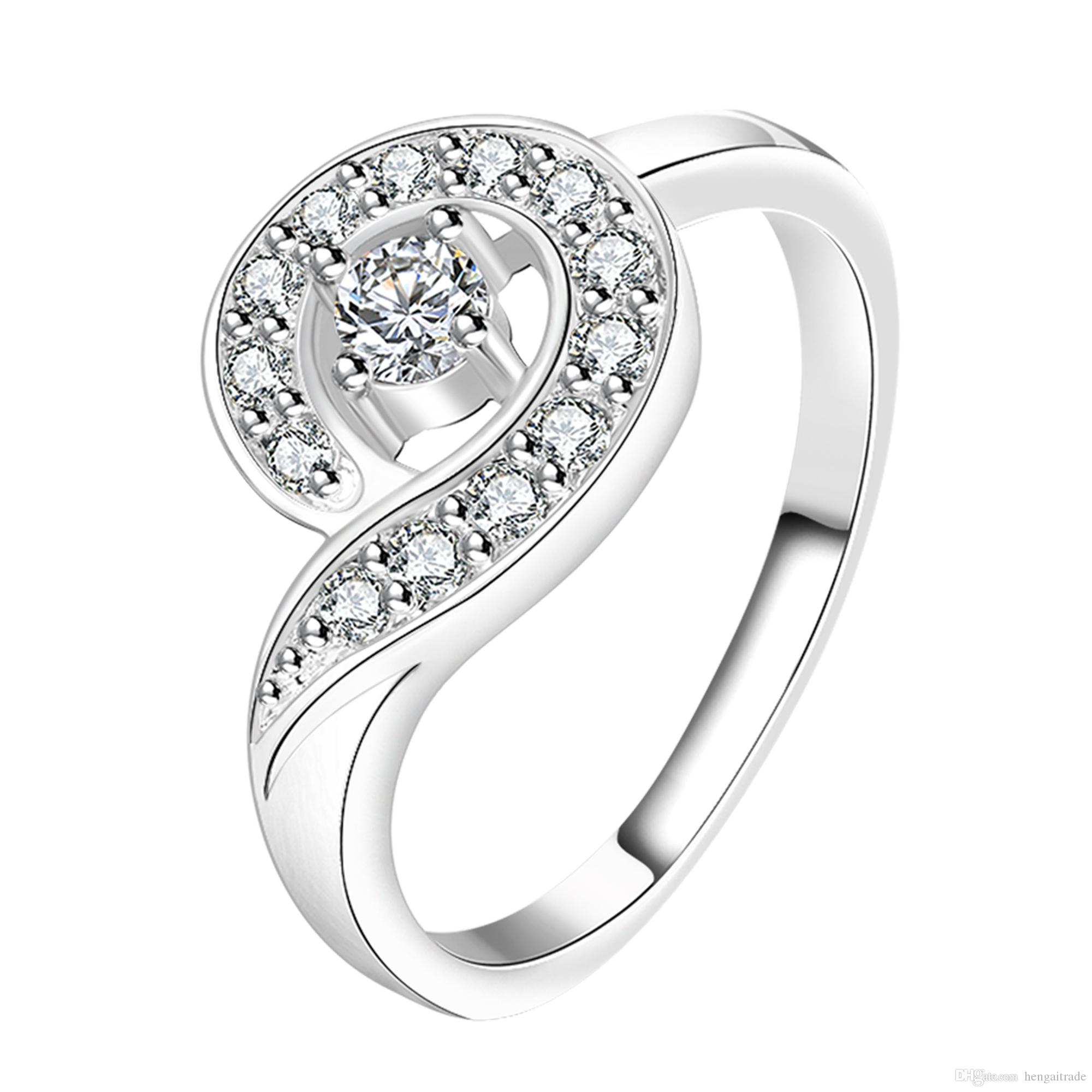 Wholesale 925 Sterling Silver Plated Fashion inlay stone Whistling ring Jewelry LKNSPCR149-7