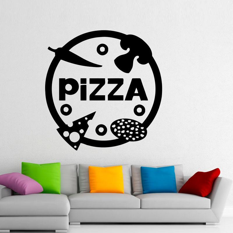 Pizzeria Decorations Diy Wall Decor Decals Pizza Vinyl Art Wall ...