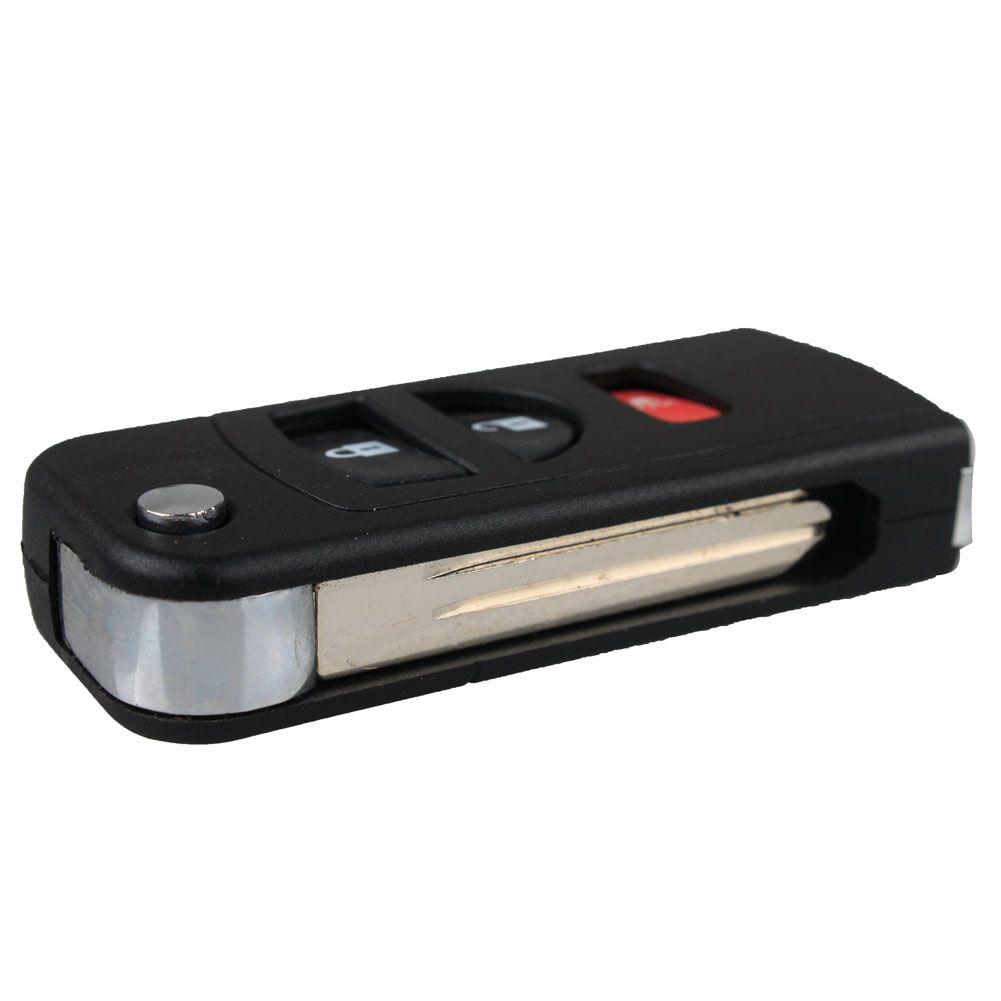 3 Buttons Flip Folding Remote Key Shell Fob Case For NISSAN Quest Murano Armada Titan Xterra Frontier Pathfi Tire Pressure Alarm car-styling