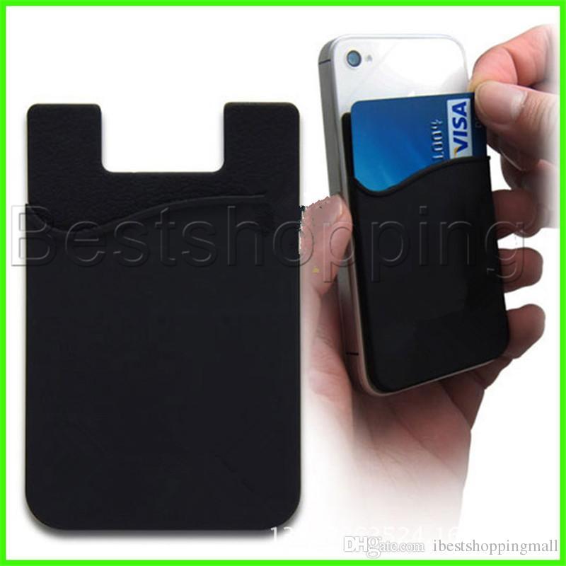 Ultra ince Kendinden yapışkanlı Kredi Kartı Cüzdan Kartı Seti Kart Renkli Silikon İçin Akıllı telefonlar iPhone 11X 8 7 6S Sumsung S8 S9 Artı