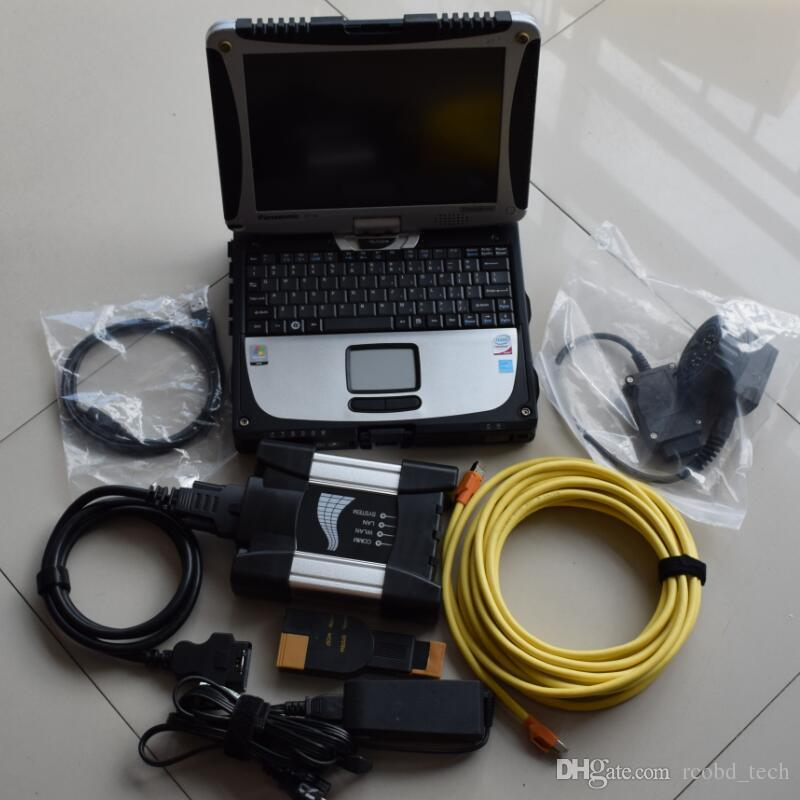 for bmw diagnose tool for bmw icom next scanner with hdd 500gb ista expert mode with laptop cf19 touch screnn pc