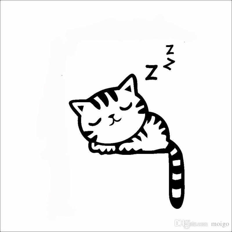DIY 재미 귀여운 고양이 개 스위치 스티커 벽 스티커 홈 장식 침실 객실 장식