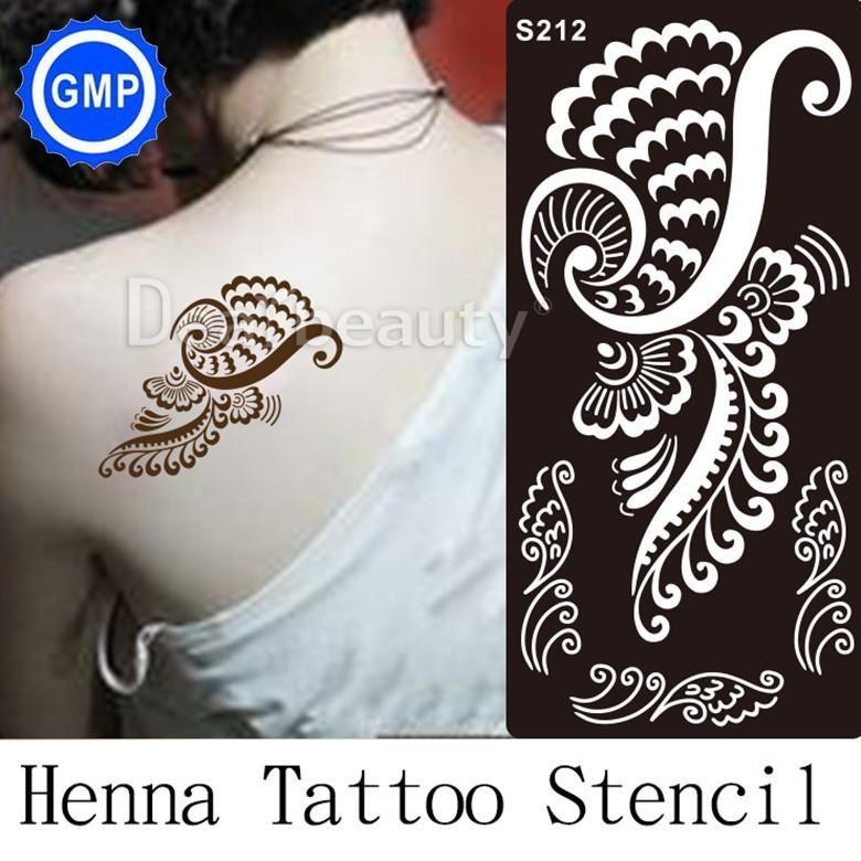 Wholesale Trendy Henna Tattoo Stencils Temporary Tatoo Templates Glitter Tattoo Stencil Airbrush Indian Designs For Painting Kit S Airbrush Body Art