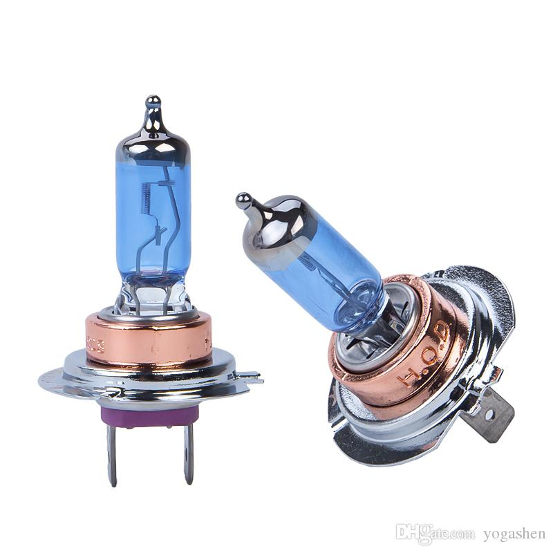 2x100W H7 Car Halogen Fog Light HeadLight DRL HOD Lamp Xenon 5000K Dark Blue Glass Replacement Bulb Car Light Source super