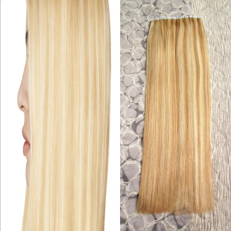 Apply Tape Adhesive Skin Weft Hair 4c 4b Tape In Human Hair