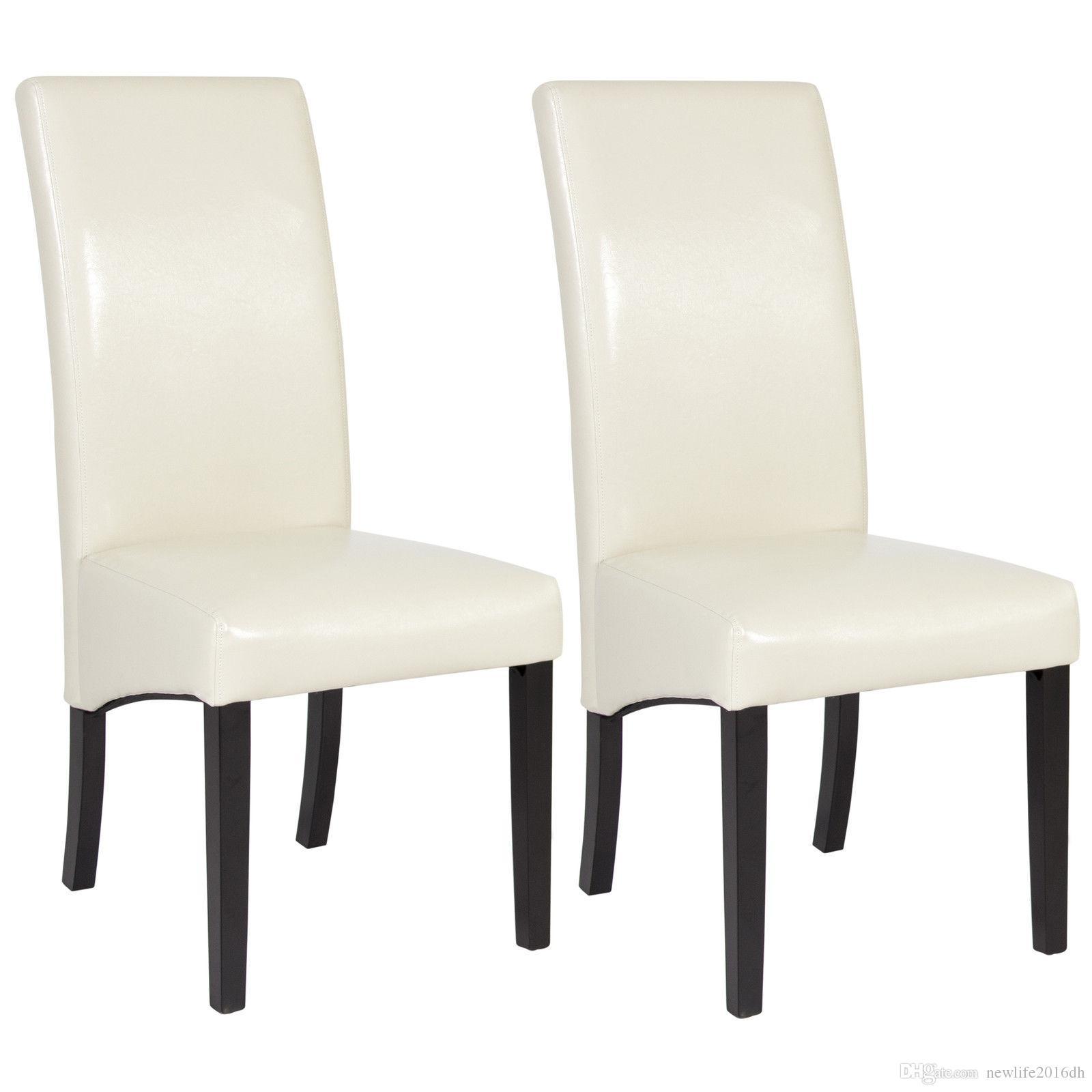acheter bcp ensemble de 2 chaises de salle manger en cuir blanc design lgant mobilier contemporain de 8041 du newlife2016dh dhgatecom