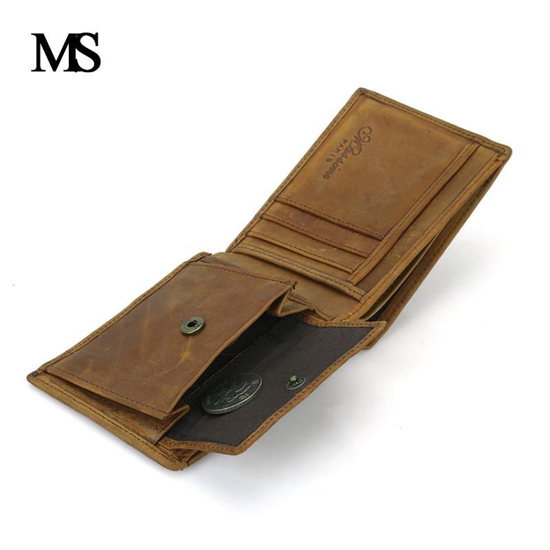 b10f7241ced6 Wholesale Real Leather Wallet Men Organizer Wallets Brand Vintage Genuine  Leather Cowhide Short Men'S Wallet Purse With Coin Pocket TW1653 Wallets For  Girls ...