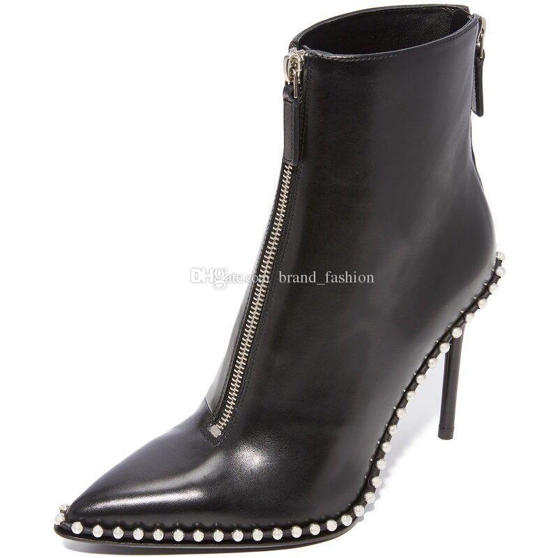Bottes de bottes à la cheville sexy bottes de la mode automne hiver bottes rivets cheville