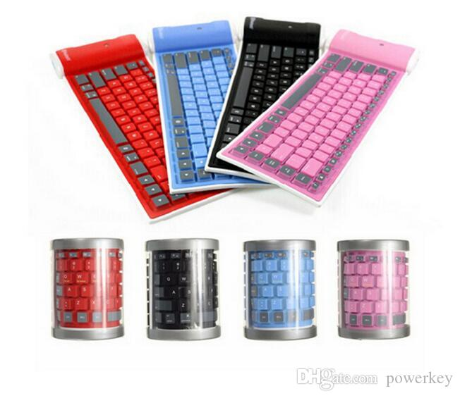 Розничные Мобильный телефон таблетки ISO андроид универсальный беспроводной Bluetooth клавиатура водонепроницаемая складной силикагель экранной клавиатуры