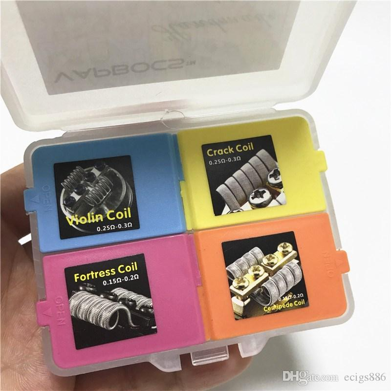 Tournament Coil Box 4 In 1 Heating Premade Wire Fortress Violin Centipede  Crack Coil Prebuilt Wires CottonFor Vape Rda Rta Dripka Nichrome Wires Roof  ...