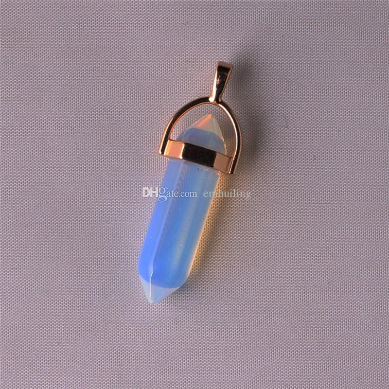 Buena suerte encanto impresionante ágata púrpura chapado en oro y fianza collar de cadena de fianza ideal verde jade colgante 32 * 8 mm Punto pendulum cunden collar