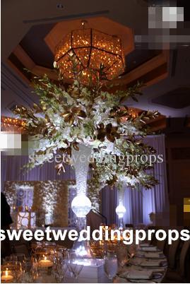 Toptan yapay yeni zihinsel altın / şerit zihinsel Parti Düğün Dekor çiçek demir vazo