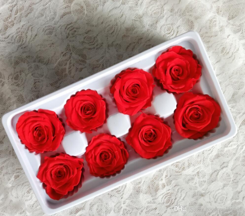 4-5cm Preserved Flower Rose Bud Head For Wedding Party Holiday Birthday Velentine's Day Gift Favor
