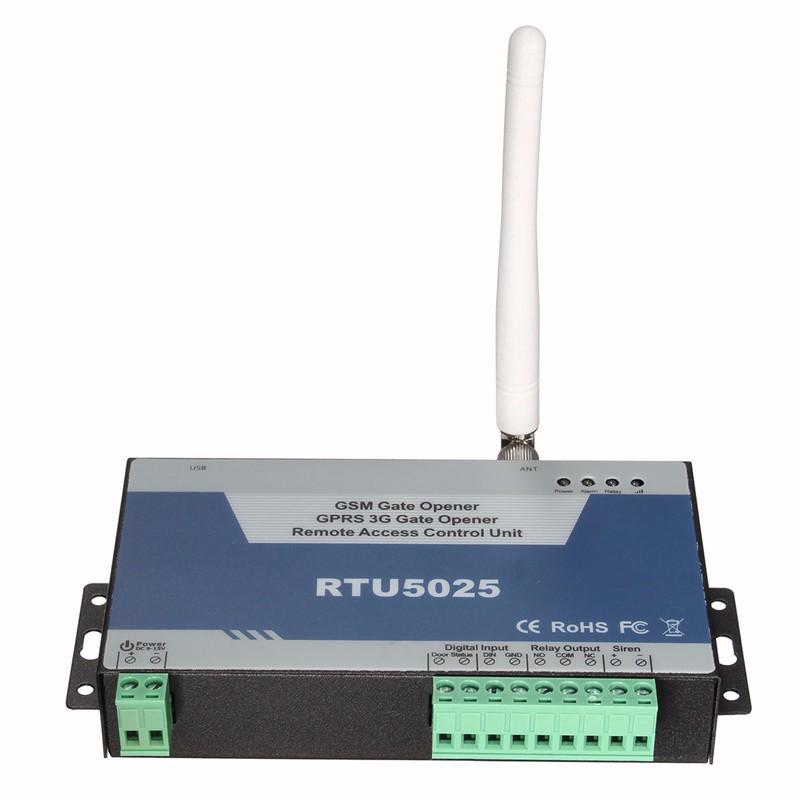 Apriporta del cancello di GSM Freeshipping GPRS 3G (RTU5025) Unità di controllo di accesso a distanza 999 utenti aprire Cancello / Barriera / Persiana / Porta del garage