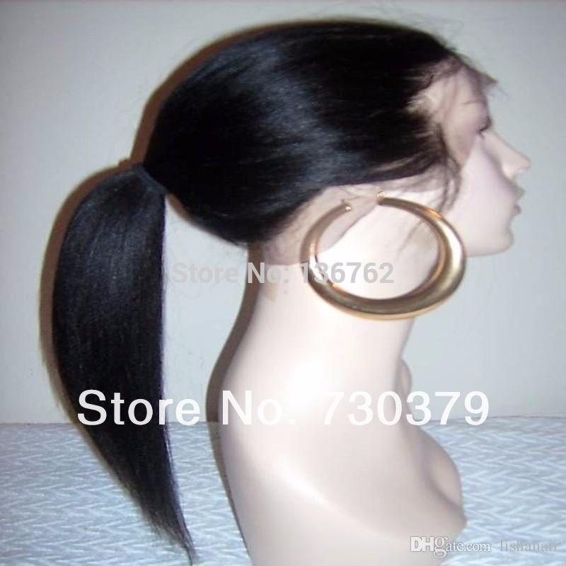 Yaki straight Full lace wig &Front Lace wig Brazilian Virign human hair yaki straight wigs with baby hair DHL