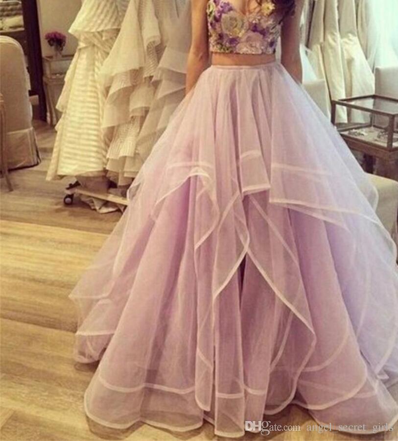 Princesa Saias de Cintura Alta Em Camadas de Tule Tutu Saias Longas Mulheres Jovens Senhoras Desgaste Até O Chão Organza Homecoming Vestidos Causal Roupas