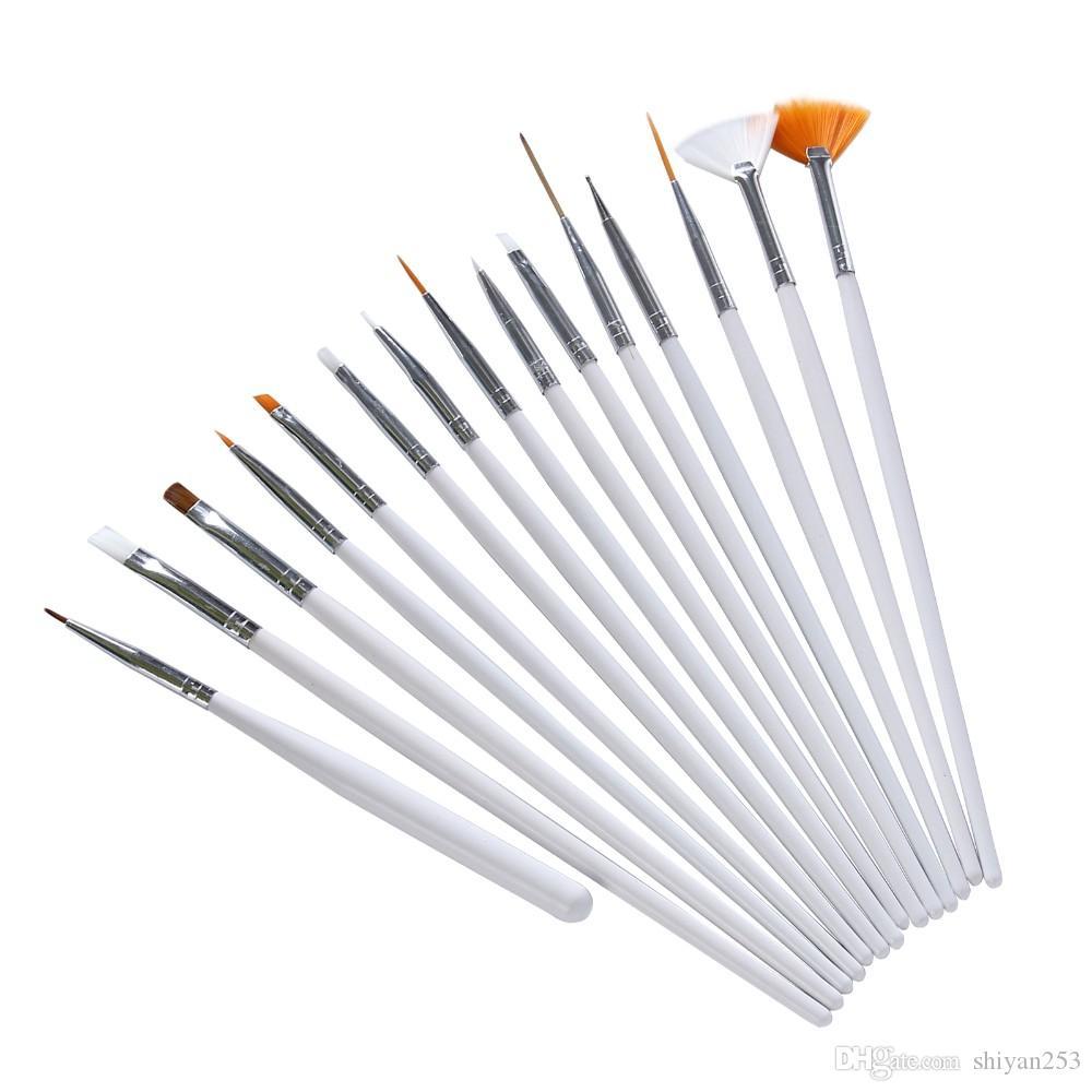 Set da 15 pezzi Pennello Nail Art Pennello Pennino Disegnare Dot strumenti di decorazione fai da te Gel UV