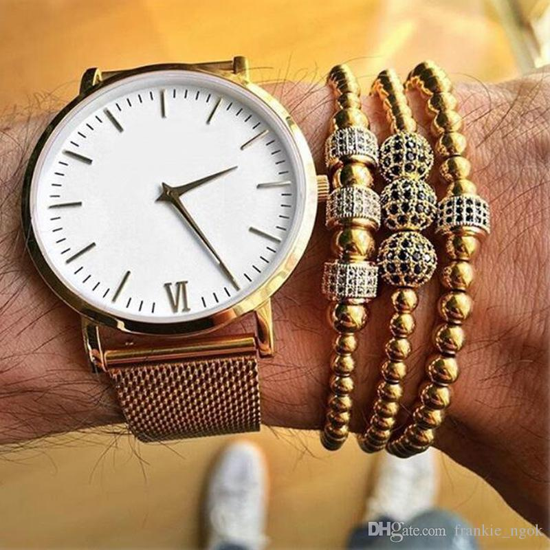 Anil Arjandas Men Bracelet Micro Pave Black Cubic Zironia Stoppers Beads Briading Macrame Bracelets For Male Stainless Steel Jewelry