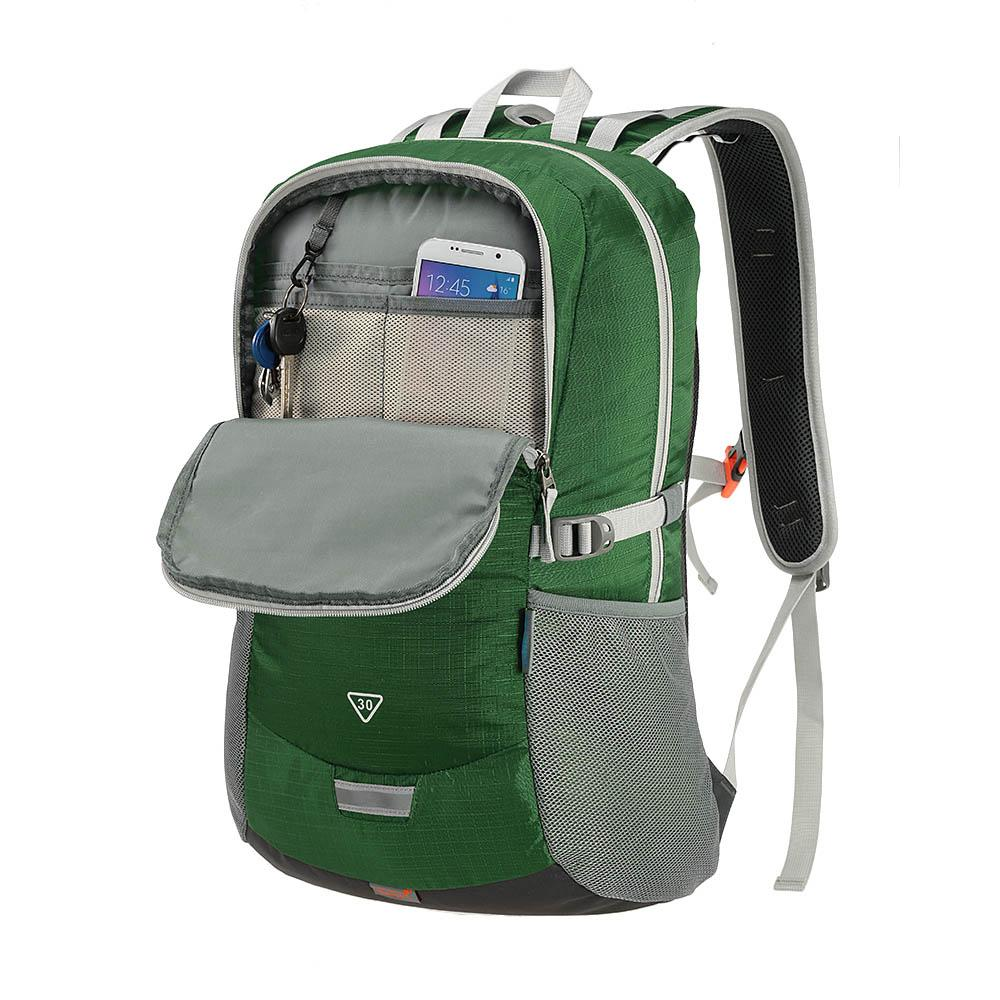 2016 Rain Cover 나일론 하이킹 배낭 야외 스포츠 백 등산 배낭 배낭 여행 가방 백팩 TOMSHOO 30L