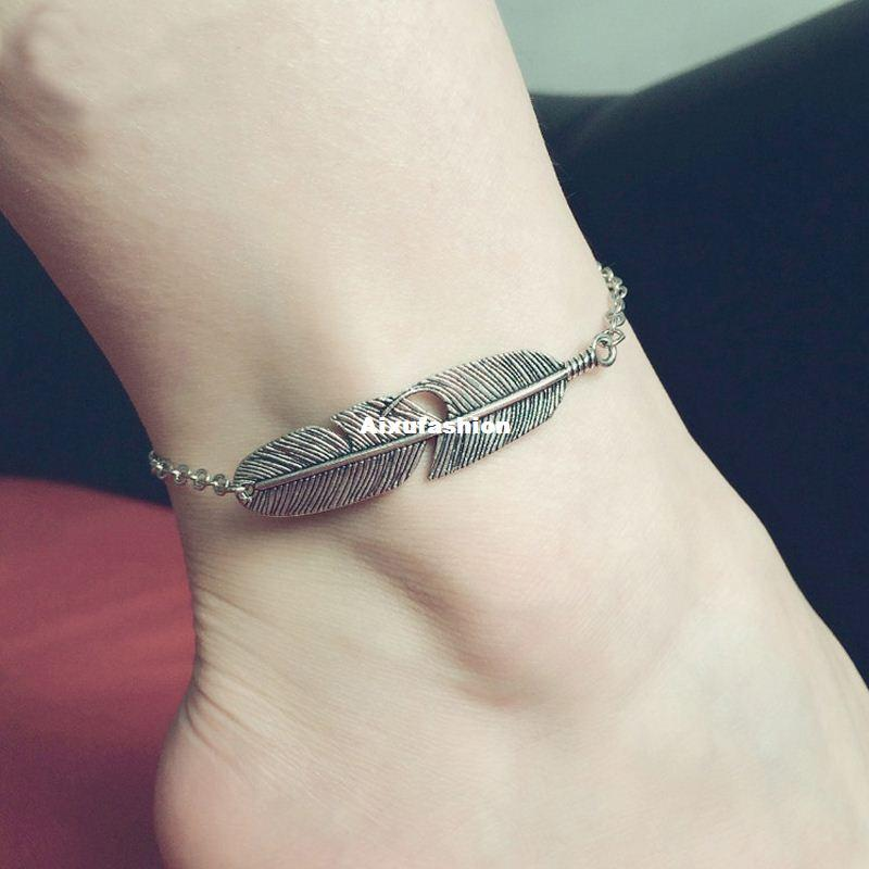 com bracelet moon jewelry anklet free anklets double from shipping ankle accessories fashion rose in on item chain golden metal aliexpress