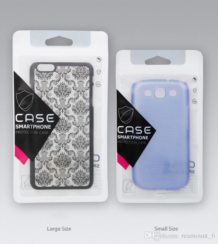 sacchetti della cassa del telefono personalizzato iPhone 8 caso 8Plus sacchetti della chiusura della mano di vendita al dettaglio di plastica borse in plastica con cerniera iPhone X caso