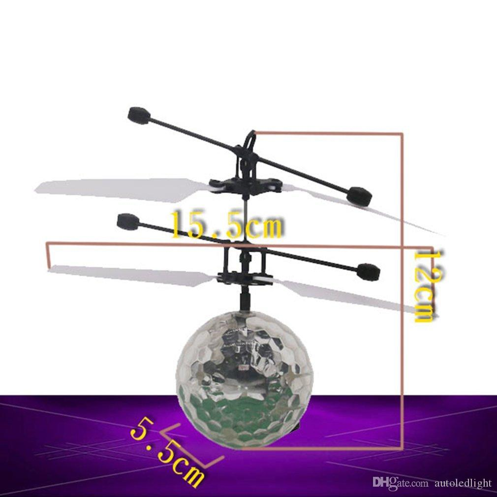Induction lights light aircraft flash induction fans infrared remote control remote sensing airplanes flying ball toys