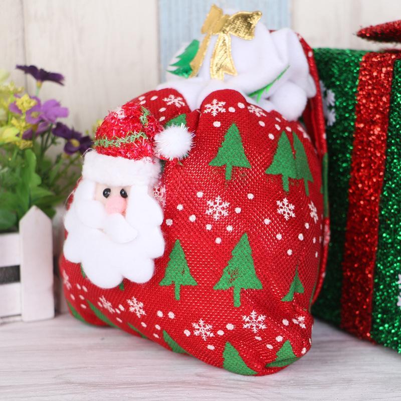 SıCAK Noel Şeker Çanta Süsler Sequins Süslenmiş Sigara Dokuma Noel Çanta Kumaşlar Parti Hediyeler Çocuklar Için Şeker Çanta Noel hediyesi