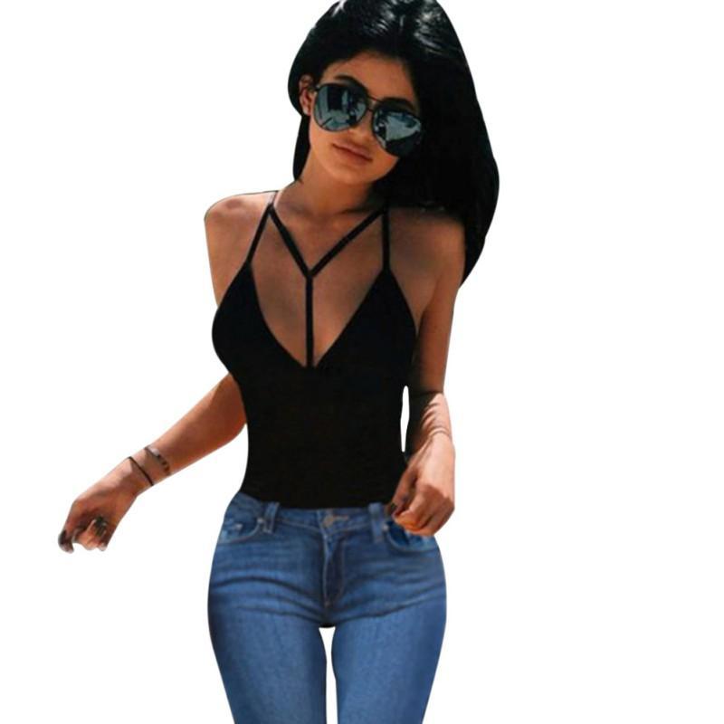Buy Cheap Sexy Women Pink Bandage Crop Tops Summer Fur Bras V Neck Sleeveless Blouse Shirts Blouses & Shirts