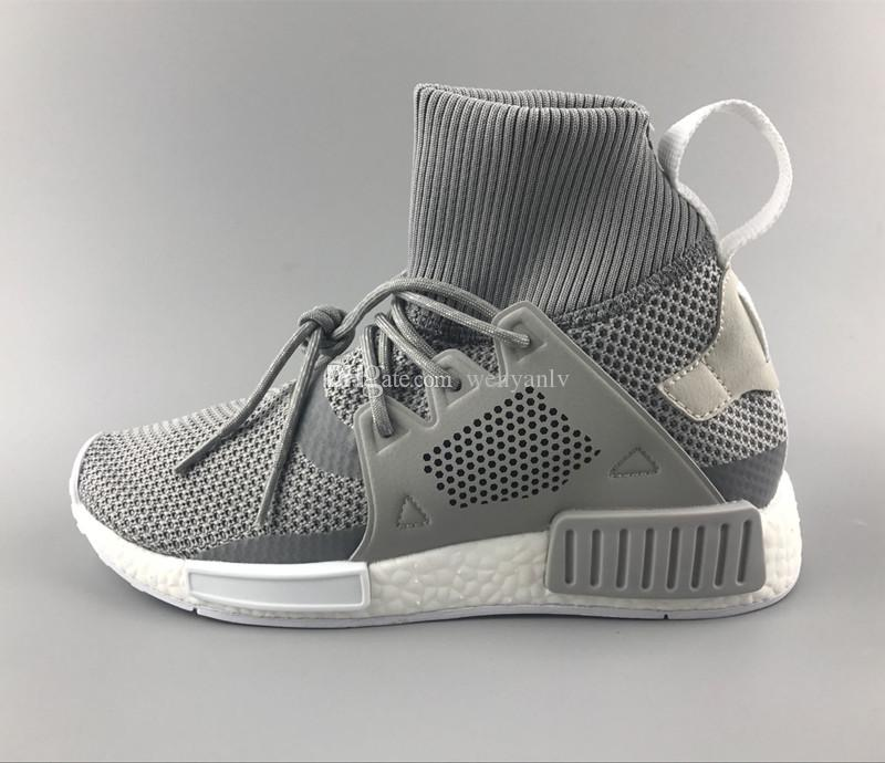 c07a6634b 2019 Discount Cheap New XR1 Running Shoes For Men And Womens ND High Top  Sneakers Grey Color Knitting Boots Size US5 11 Drop Shipping From Wenyanlv