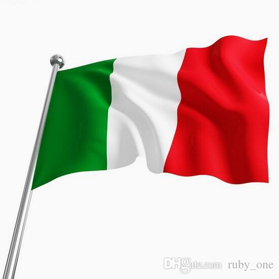 90 150cm Italy National Flag Green White Red Vertical Stripe Polyester Banner Oriflamme Italian Flags Cca6370 150pcs
