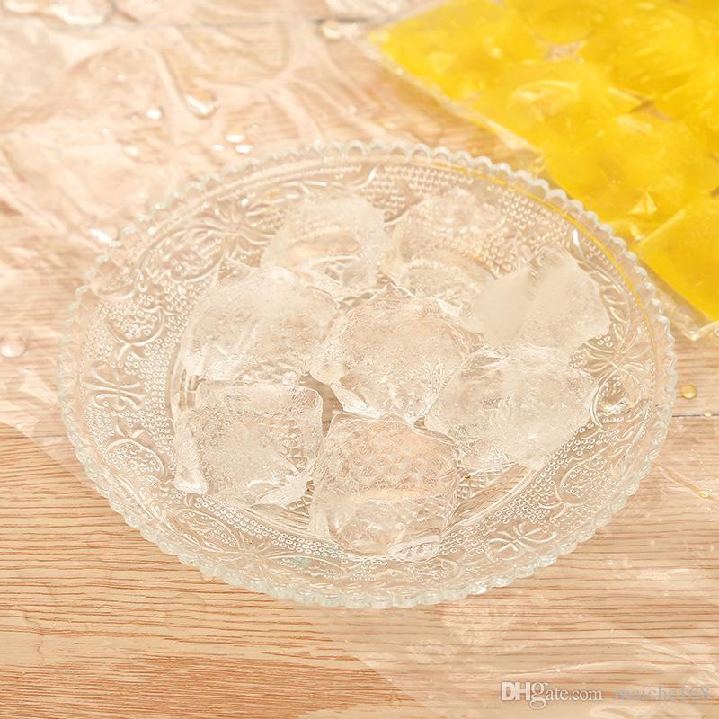 100 peças de saco de gelo gelo self-sealing one-time saco de molde de gelo congelado comestível