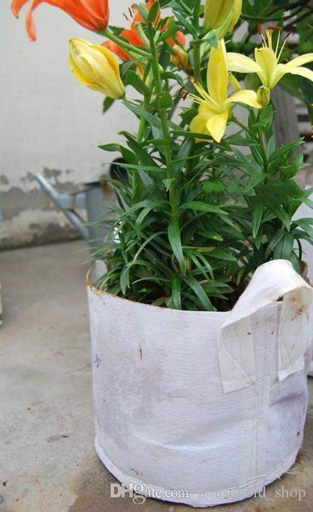 Planter Bag Implant Case Highly Breathable Non-Woven Fabric Convenient transplantation Root Protection Grow Pots 50x40cm Disposable bag