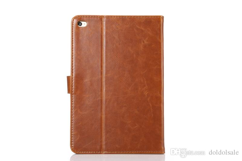 Crazy Horse PU Leather Cover with Card Slots for Apple iPad Mini 4 Mini4 mini 5 7.9 Tablet Case Smart Cover With Auto Sleep Wake Function