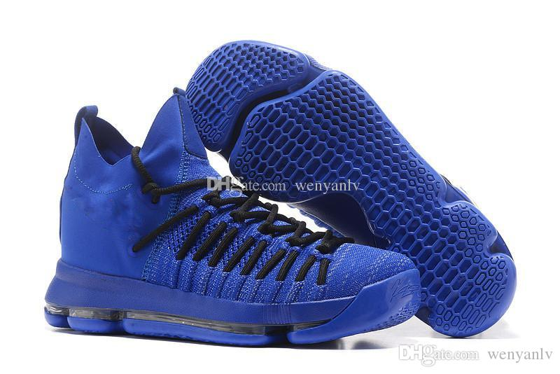 2018 kd 9 elite mens fashion blue kd basketball shoes 2017 new knitting kevin durant sneakers kd9 me